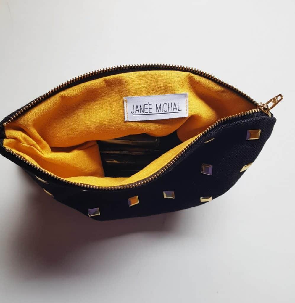 Diy Gold Studded Makeup Bag Janee Michal