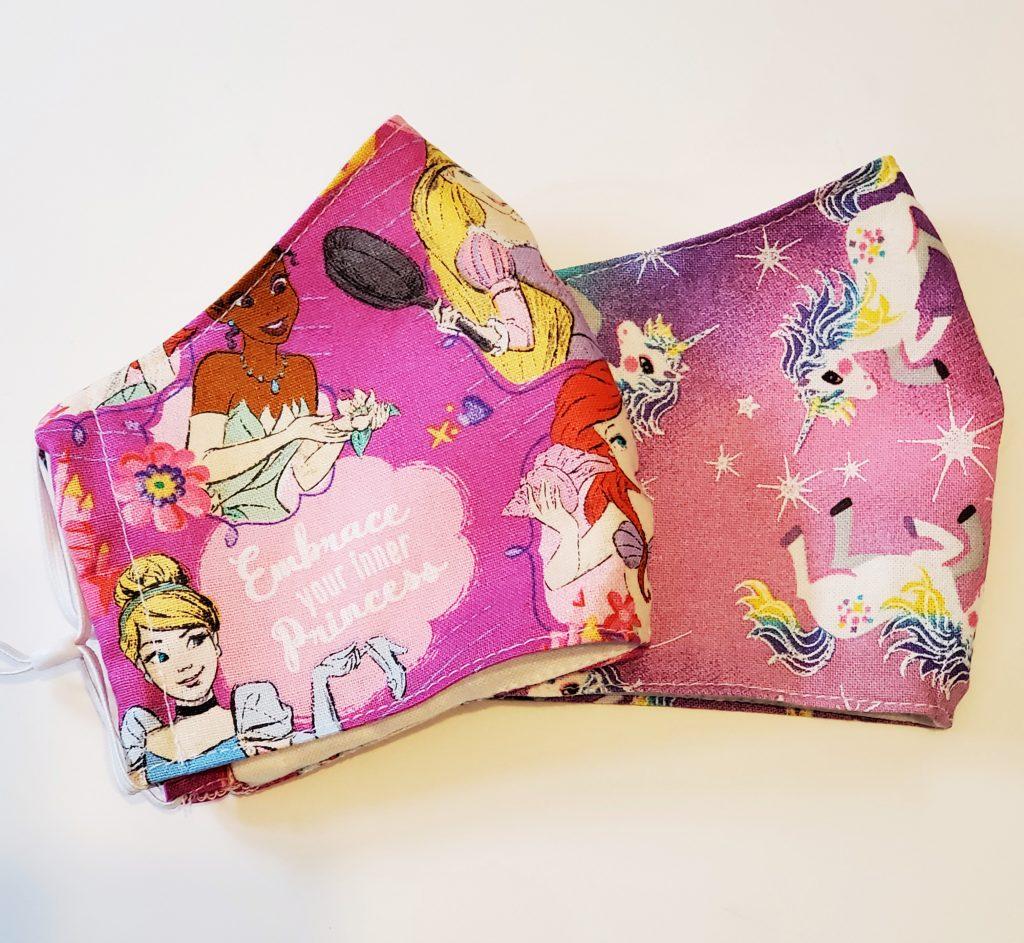 Princess and Unicorn Fabric Mask